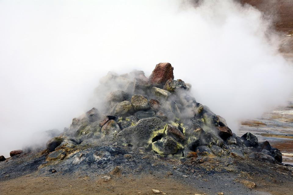 Solfatare, Iceland, Hot Gases, Stones, Hydrogen Sulfide