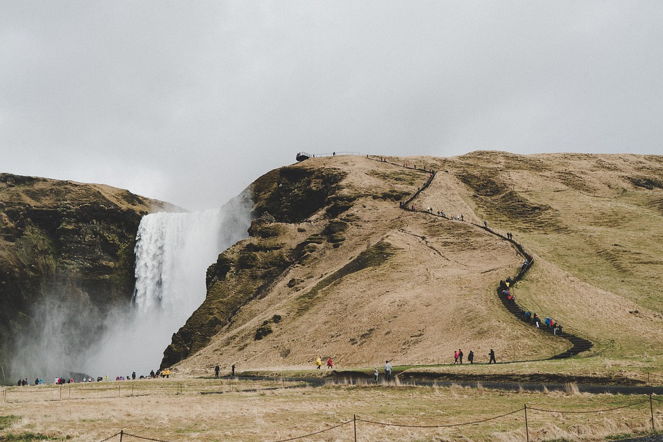 Iceland, Waterfall, Tourism, Landscape, Nature, Water