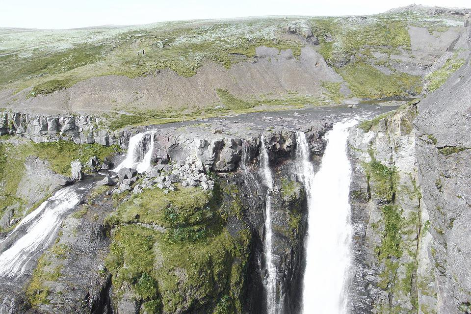 Glymur, Waterfall, Hiking Trail, Iceland, Outlook