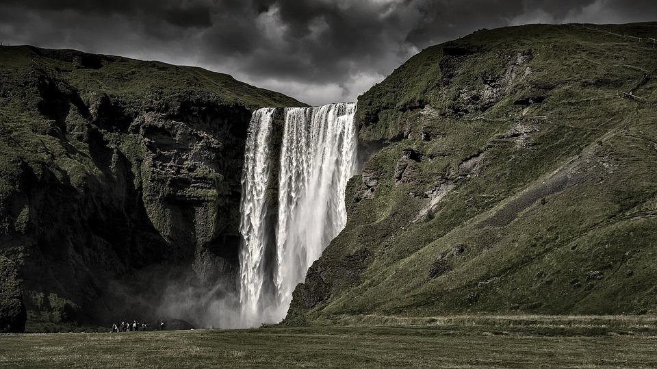 Iceland, Waterfall, Nature, Landscape, Skogafoss