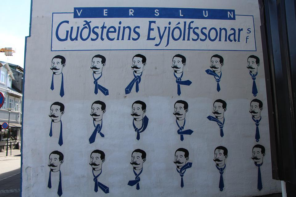 Sign, Icelandic, Reykjavik, How To Tie A Tie, User