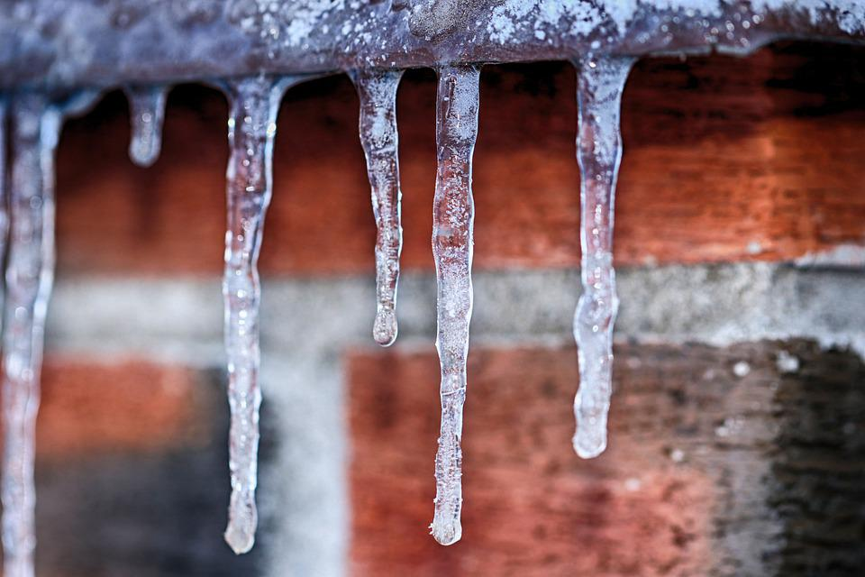 Icicle, Ice, Frost, Winter, Brick Wall