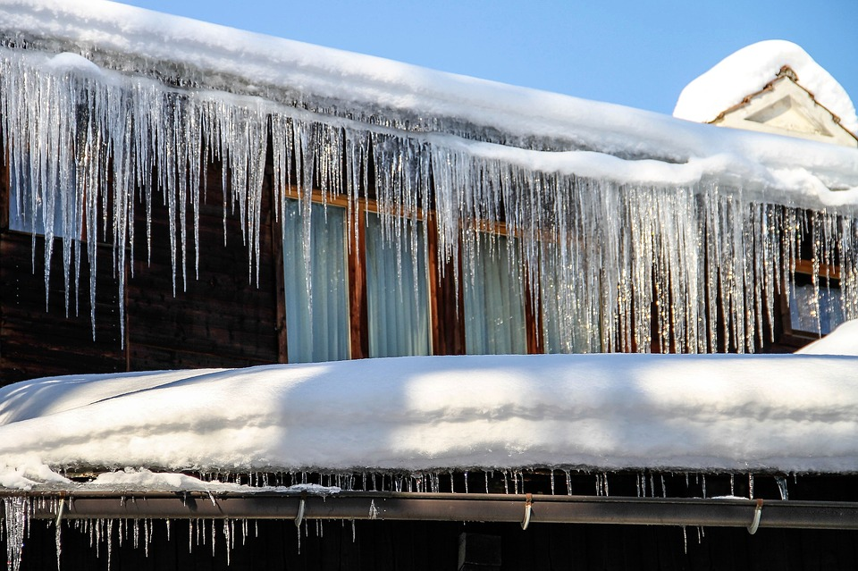 Winter, House, Icicles, Snow, Cold, Ice, White, Frozen