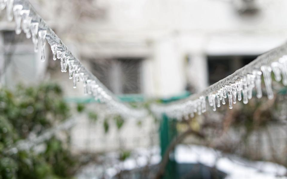 Icicles, Ice, Threads, Power, Winter, Building