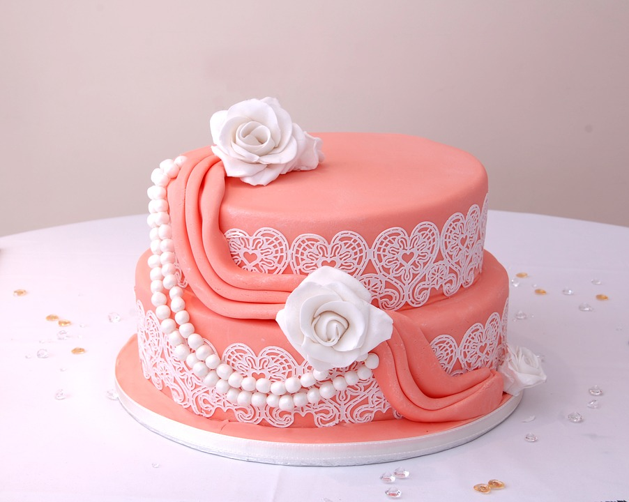 Cake, Pink, Party, White, Decoration, Icing, Decorated