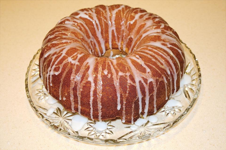 Cake, Orange Cake, Icing Sugar, Baking, Dessert