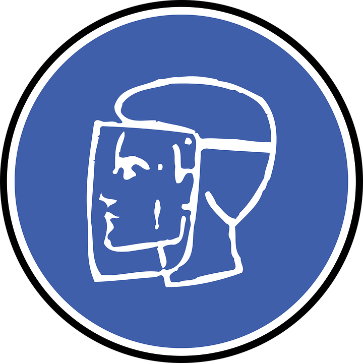 Face Protection, Safety, Work, Sign, Symbol, Icon