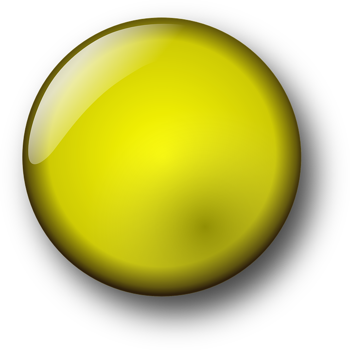 Icon, Round, Yellow, Button, Stone, Gem, Glossy