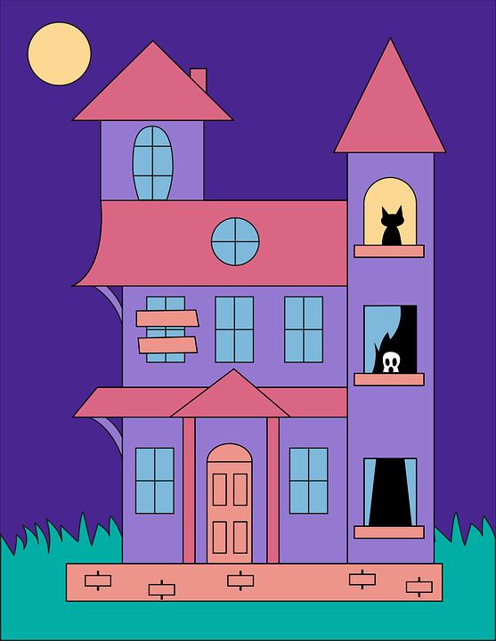 Halloween, House, Icon, Haunted House Icon