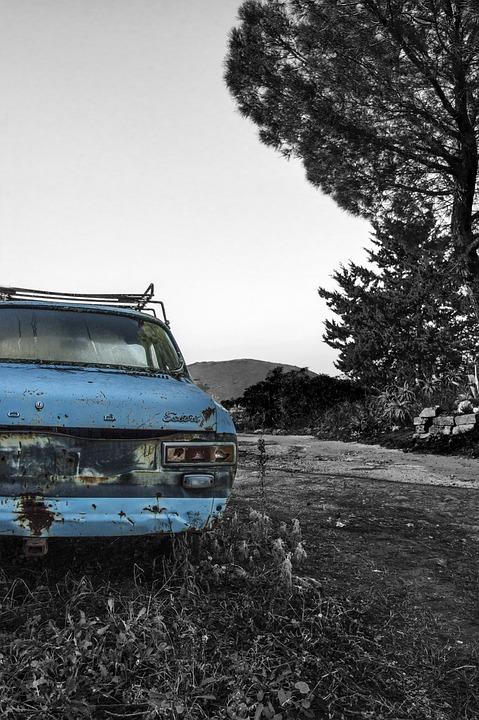 Machine, Blue, Landscape, Gray, Icon, Photo