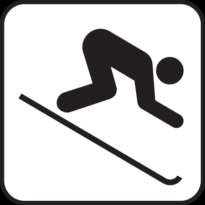 Skiing, Ski-run, Downhill, Speed, Sign, Symbol, Icon