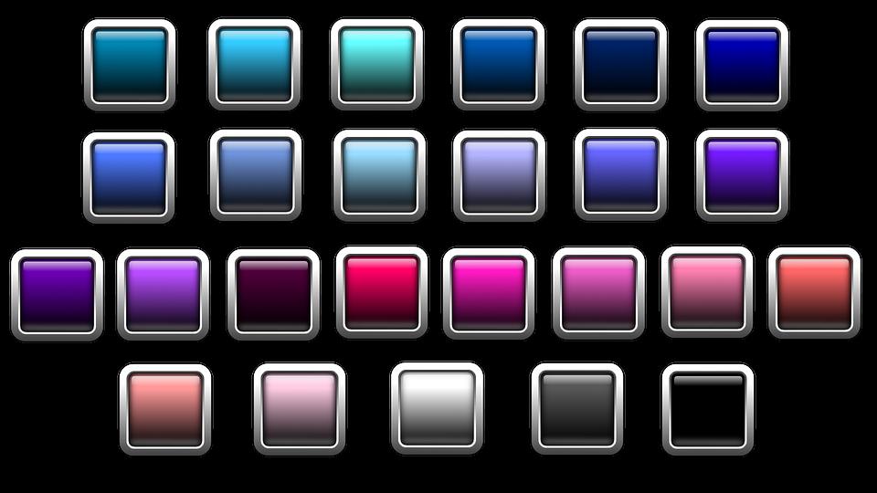 Button, Icon, Square, Colorful, Edge