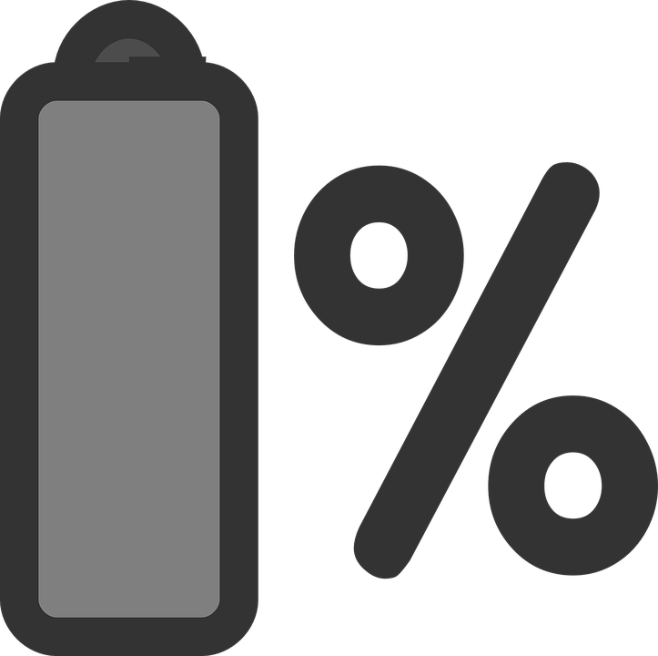 Battery, Laptop, Percentage, Sign, Icon, Symbol