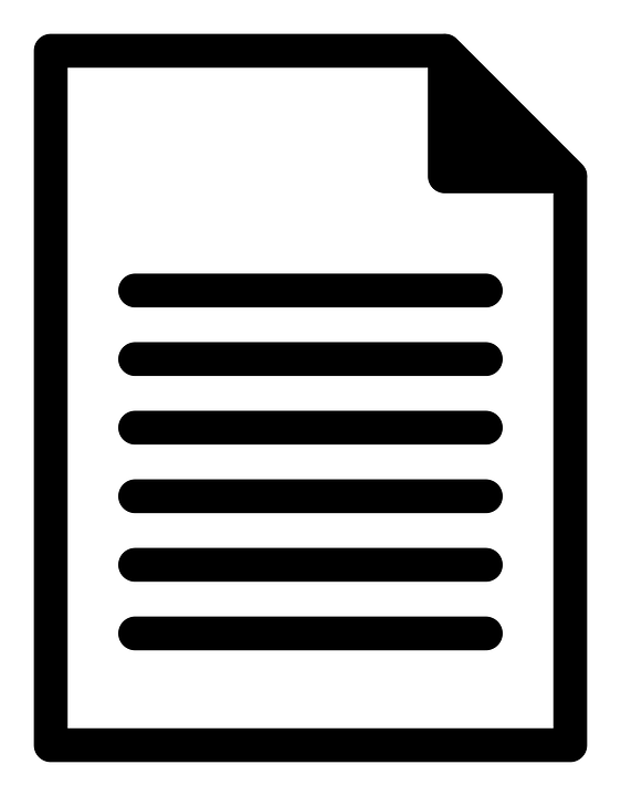 Sheet, Document, Paper, Letter, Text, Icon