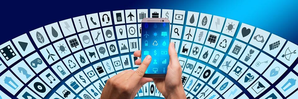 Digitization, Networking, Social Media, Icon, Website