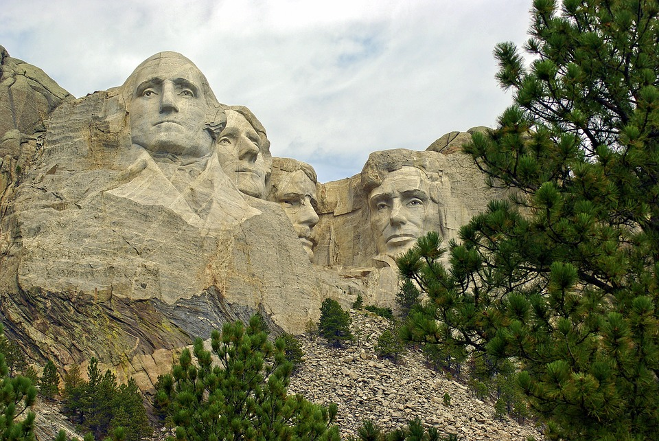Iconic Faces On Rushmore, Rushmore, Lincoln, Washington
