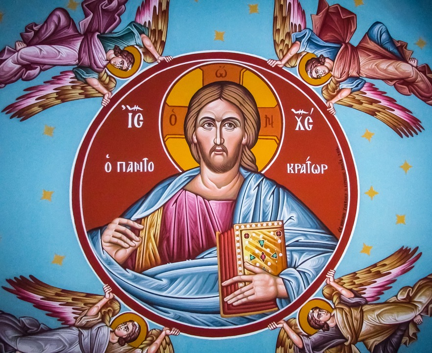 Pantocrator, Jesus Christ, Angels, Iconography
