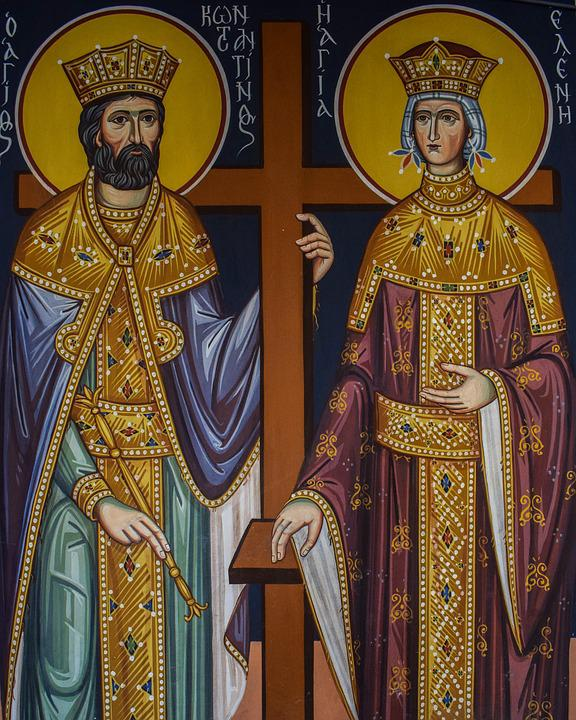 St Constantine And St Helen, Saint, Iconography, Church