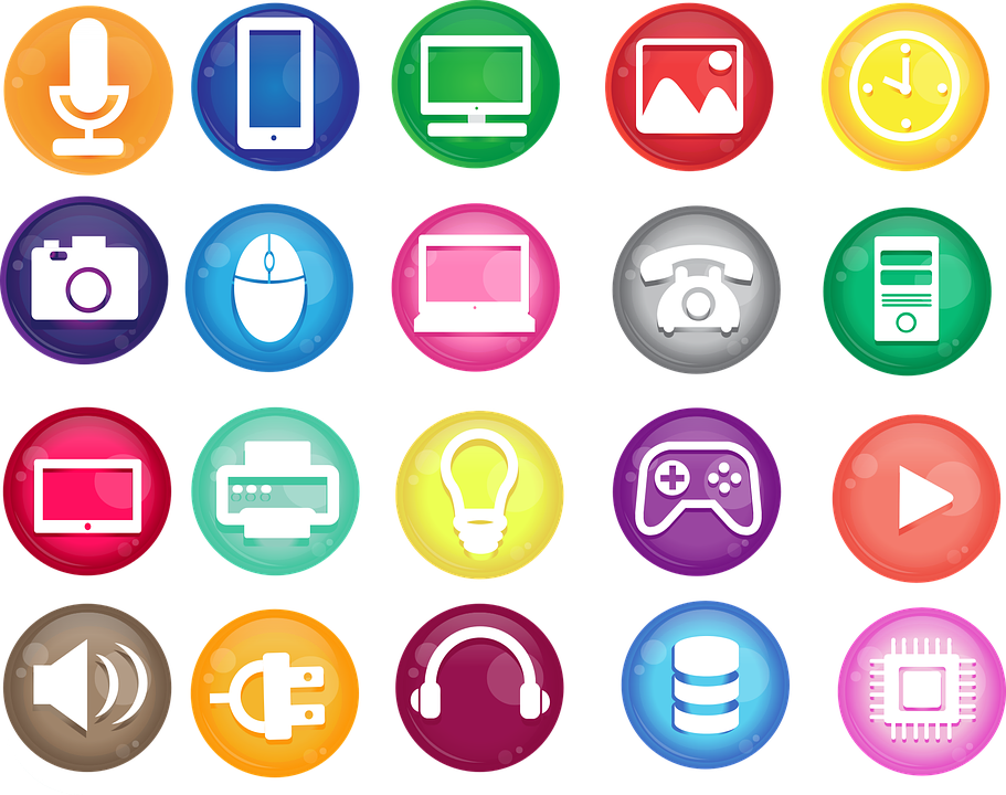 Icons, Vector, Technology