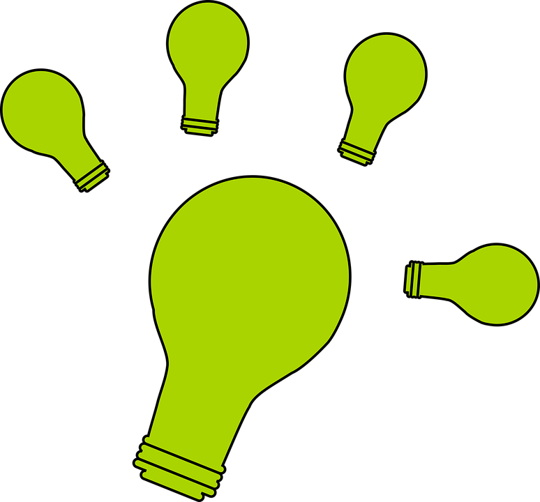 Idea, Bulb, Light, Green, Light Bulb
