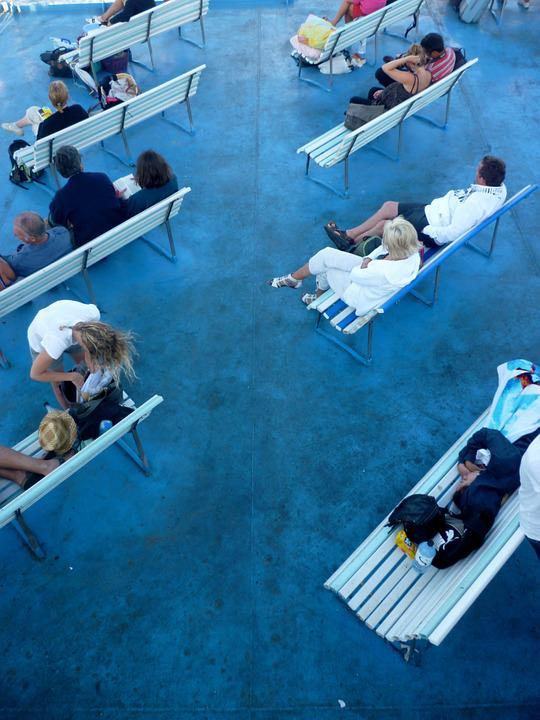 Bench, Blue, Idleness