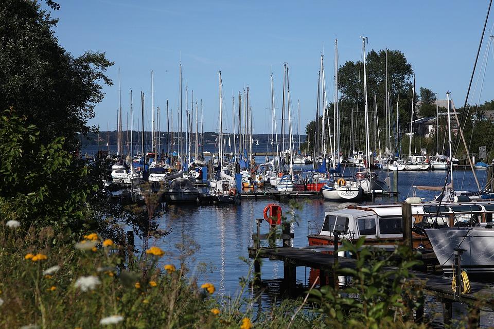 Sail, Boats, Idyll, Port, Flensburg, Summer, Sun