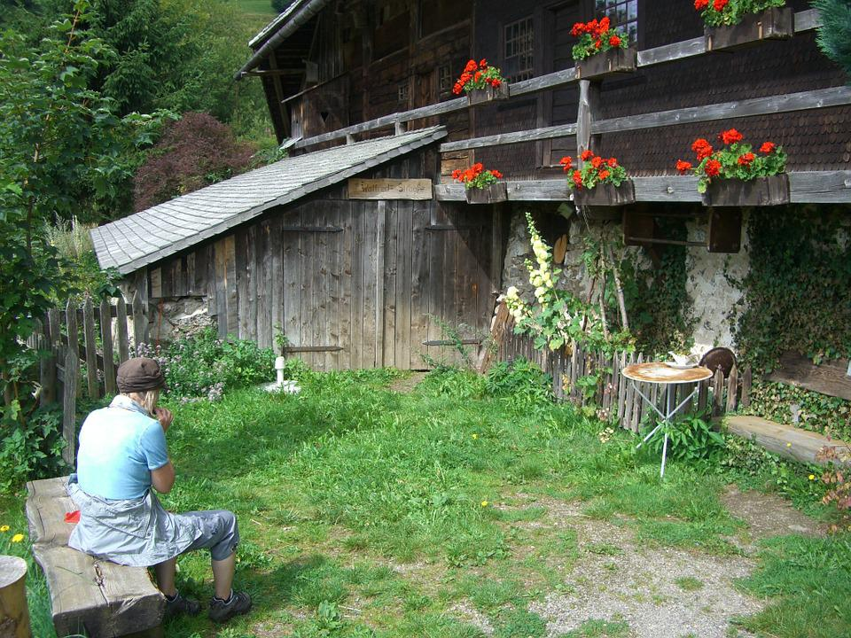 Wanderer, Break, Bank, Rest, Idyll, Schniederlihof