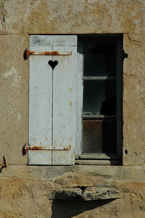 Shutter, Antique, Heart, Home, Idyllic, Historically
