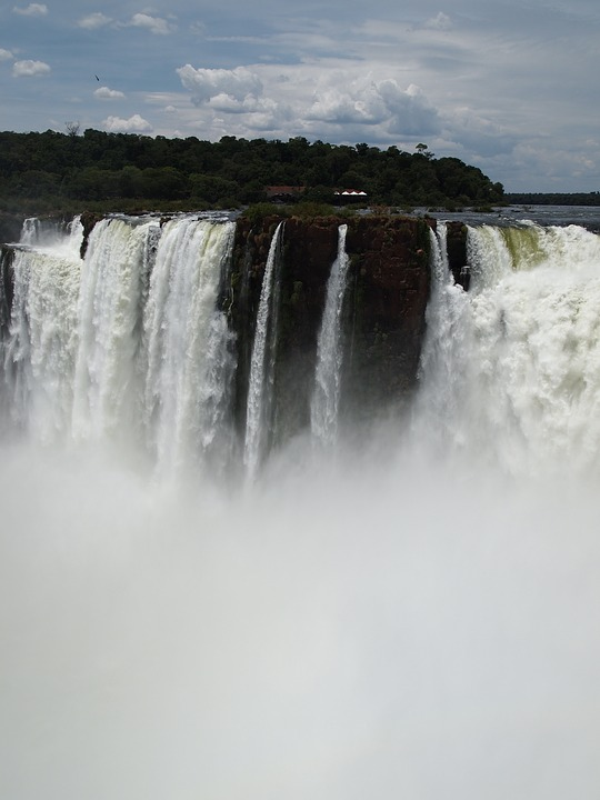 Waterfall, Iguazu, Falls, Brasil