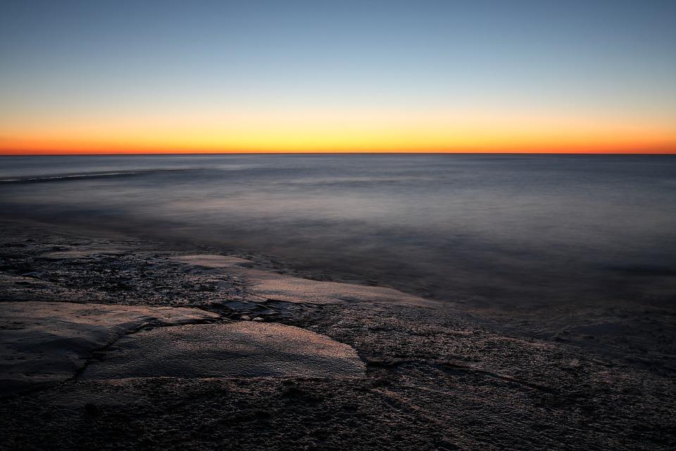 Sunset, Sea, Ile De Re