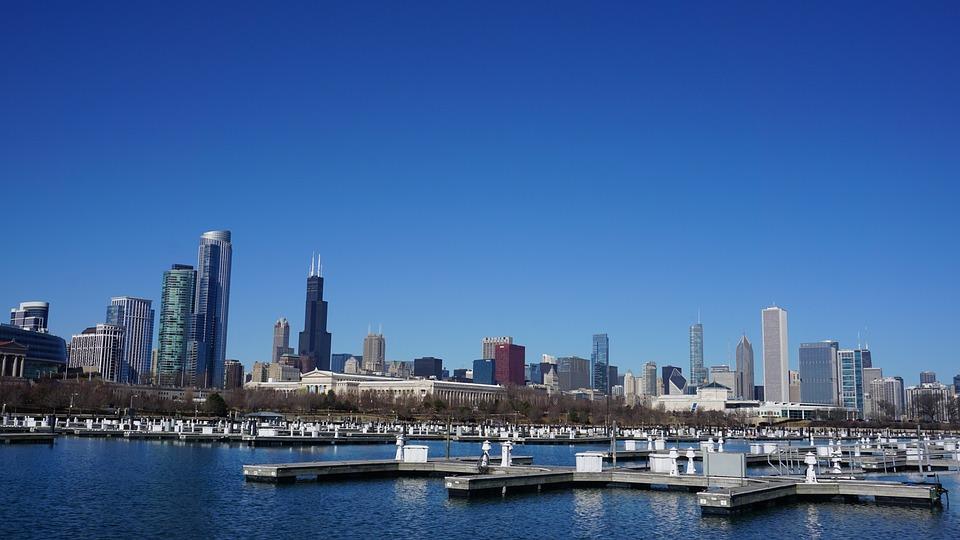 Chicago, Skyline, Architecture, Illinois, Urban