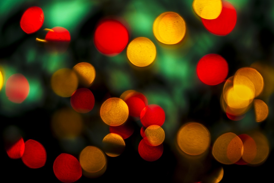 Blur, Christmas, Color, Bright, Illuminated, Round Out