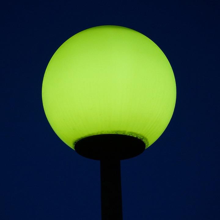 Streetlight, Illuminates The, Night, Dark
