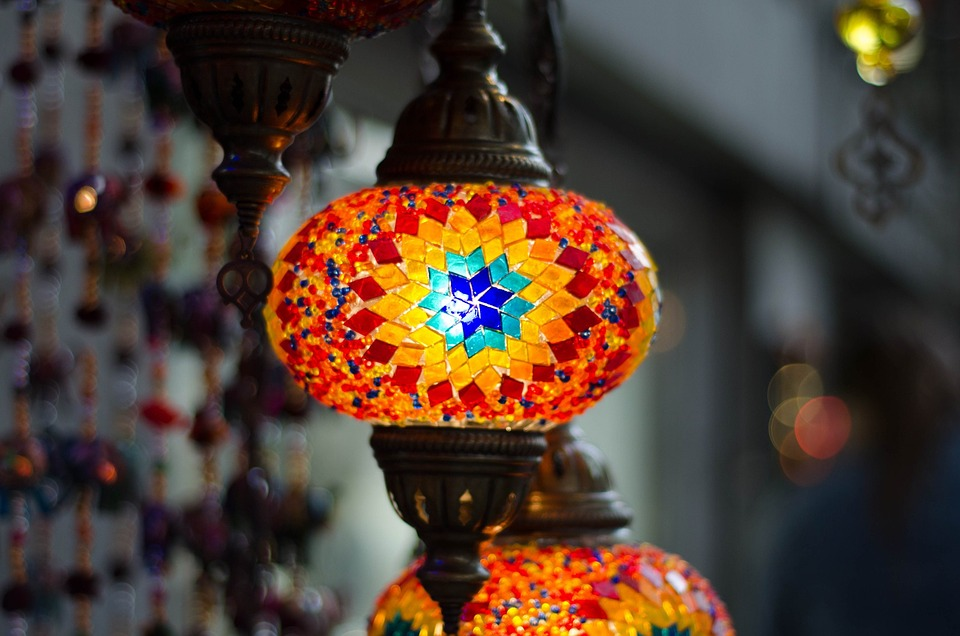 Lamp, Light, Glass, Illumination, Mosaic, Turkish