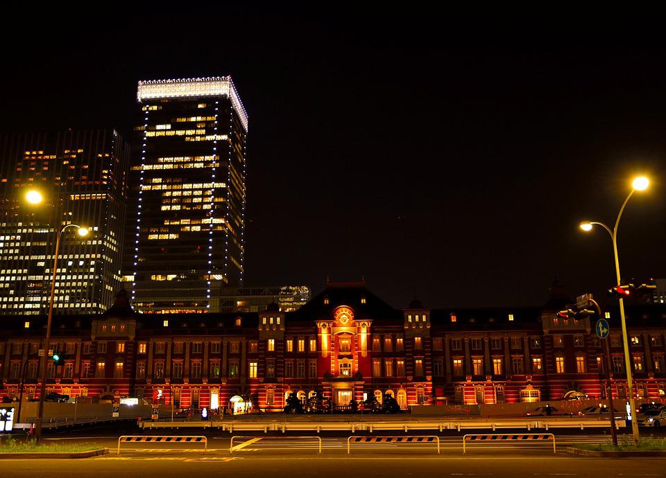 Tokyo Station, Night View, Illumination