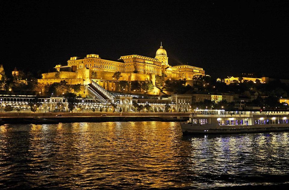 Budapest At Night, Royal Palace, Illumination, Danube