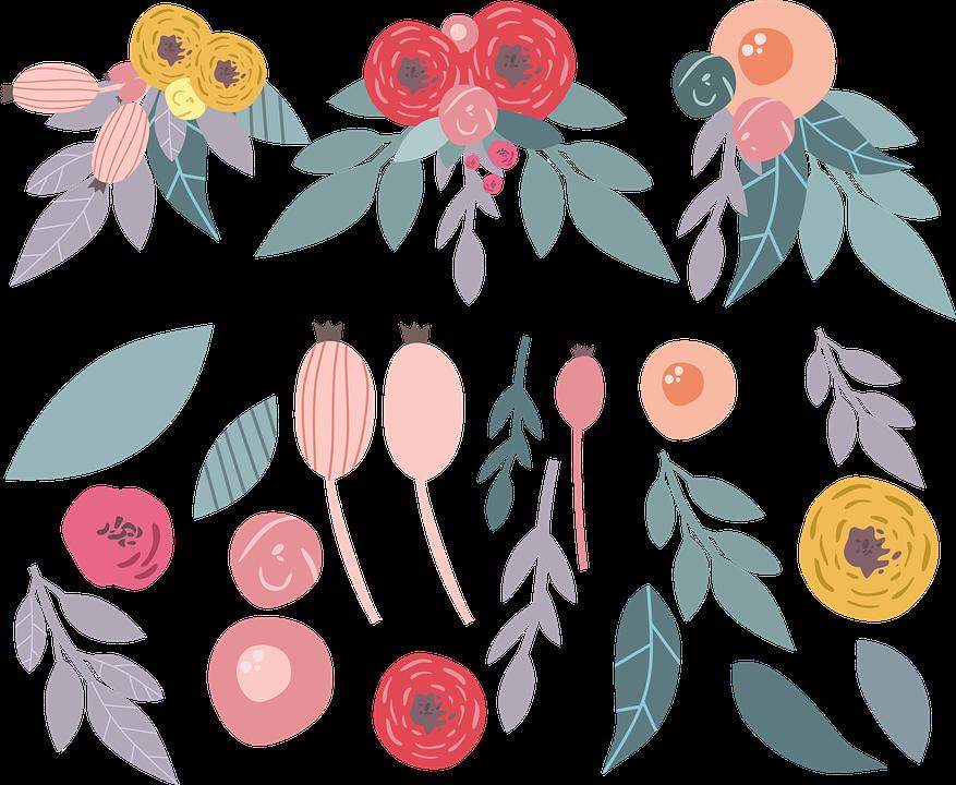 Flowers, Illustration Of The Flowers, Cartoon Flowers