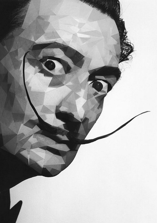 El Salvador Dali, Illustrator, Photoshop, Portrait