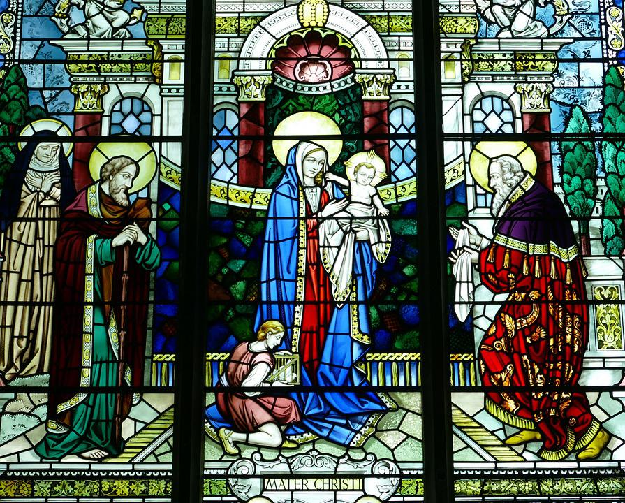 Church Window Stained Glass Image