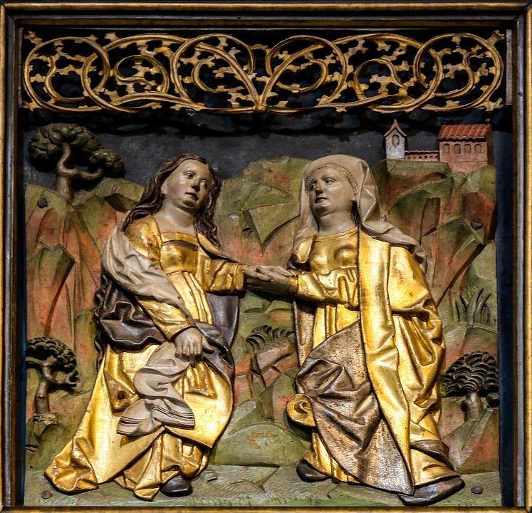 Religion, Church, Altar, Image, Wood, Carve, Gold