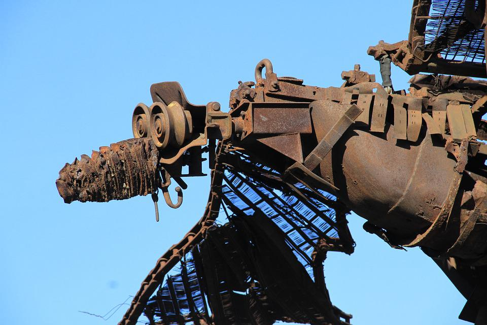 Cologne, Work Of Art, Image, Bird, Iron, Rust