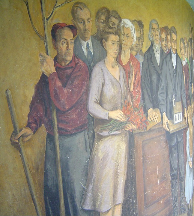 Mural, Colorful, Images, Figures, Wall Mural