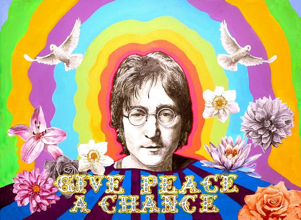 John Lennon Beatles Peace Imagine Memorial Flower