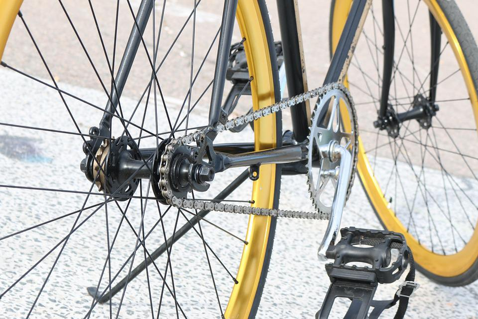 Bicycle, Gear, Golden, Hipster, Chain, Pedal, Impeller