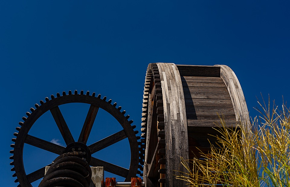 Water Mill, Impeller, Wooden Wheel, Monument, Statue