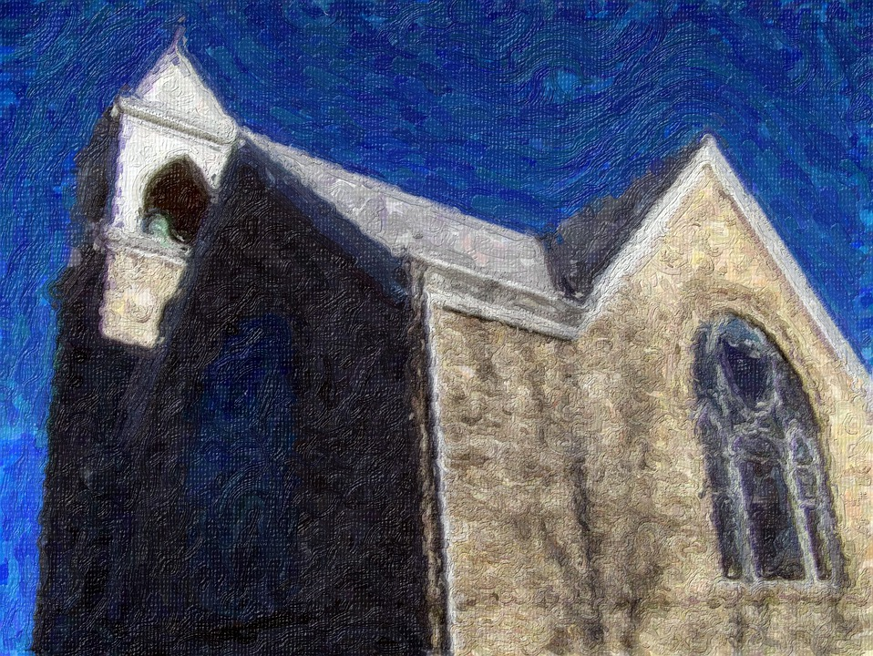 Impressionist Painting, Church, Painting, Impressionism