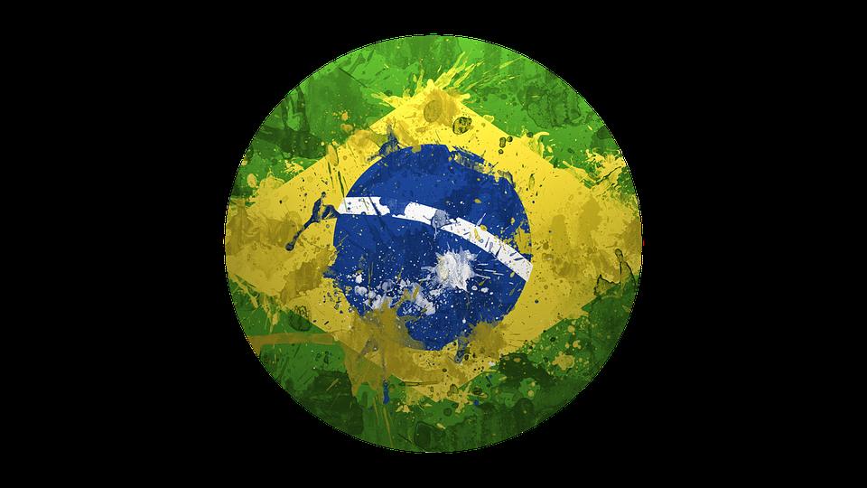 Brazil, Flag, In, Circle