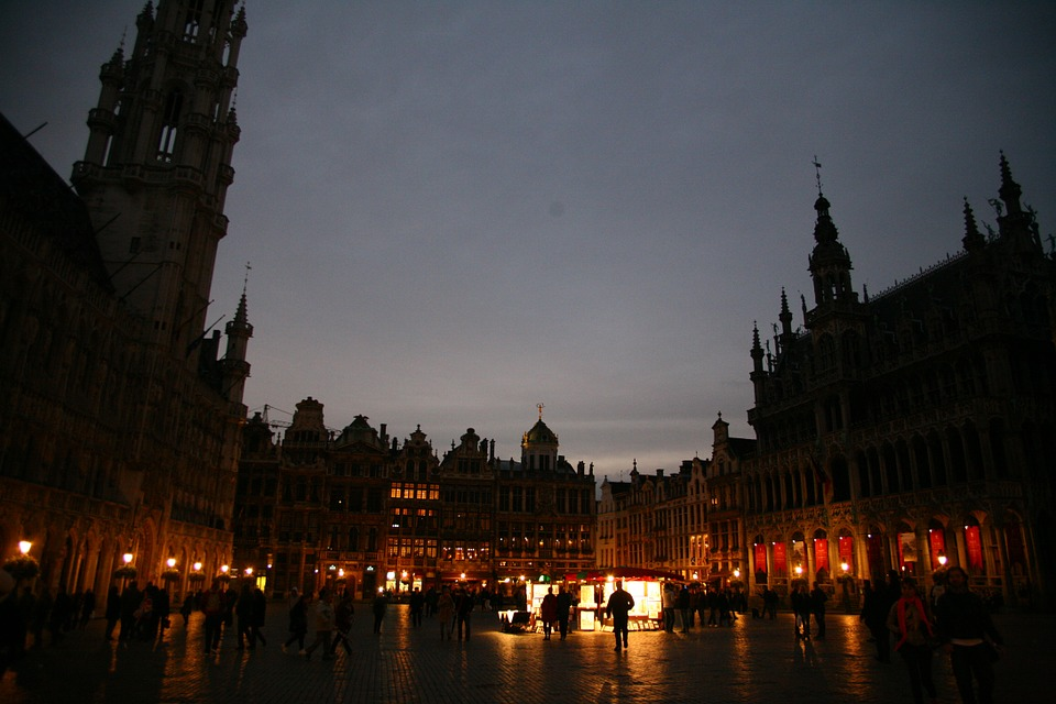 Brussels, Square, In The Evening
