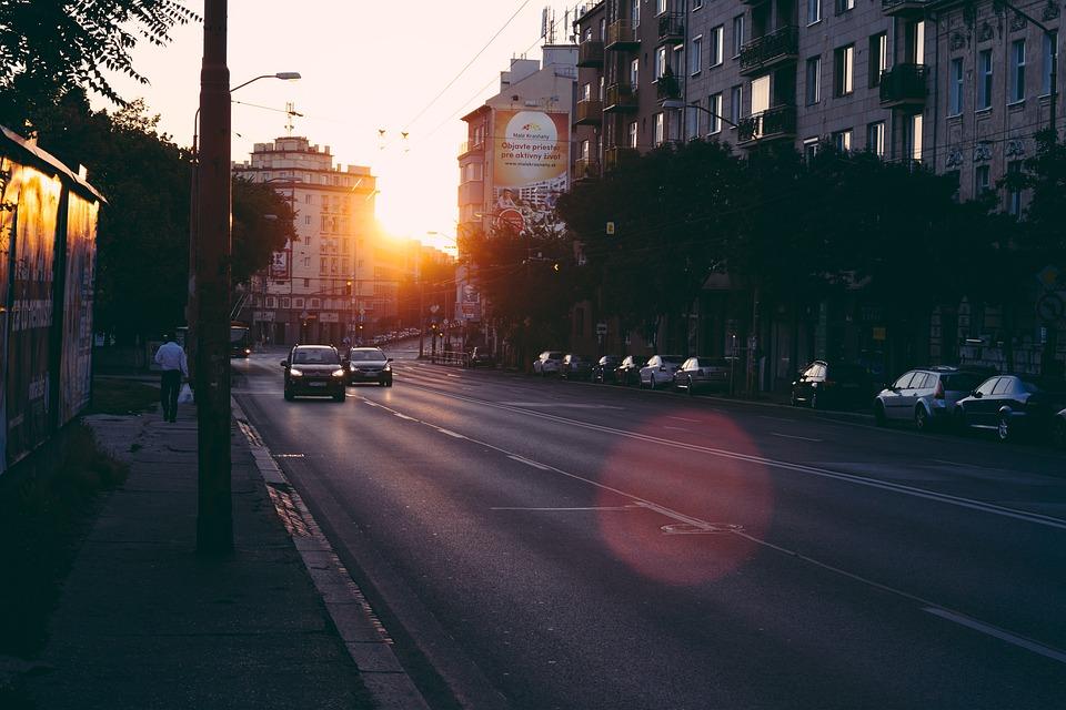 Sun, Sunrise, Path, In The Morning, City, Slovakia