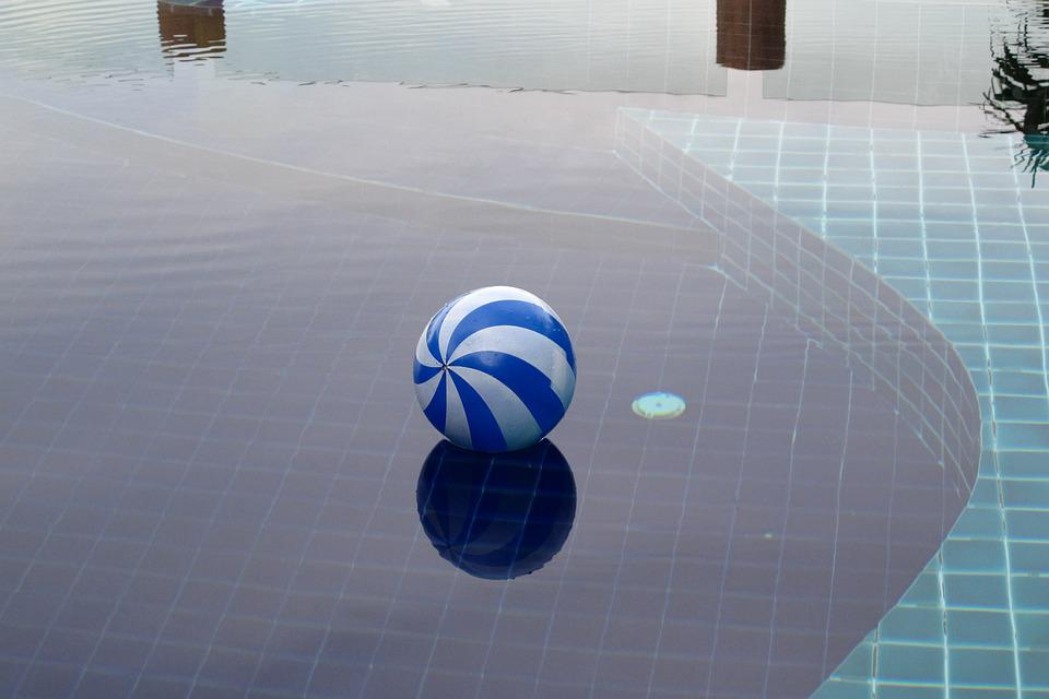Rubber Ball, For Playing, In The Pool